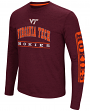 "Virginia Tech Hokies NCAA ""Sky Box"" Long Sleeve Dual Blend Men's T-Shirt"