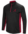 "Alabama Crimson Tide NCAA ""Upstart"" 1/4 Zip Pullover Men's Black Wind Shirt"