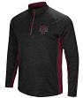 "Texas A&M Aggies NCAA ""Upstart"" 1/4 Zip Pullover Men's Black Wind Shirt"