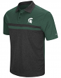 "Michigan State Spartans NCAA ""Bails"" Men's Performance Polo Shirt - Black"