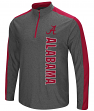 "Alabama Crimson Tide NCAA ""Splitter"" 1/4 Zip Pullover Men's Charcoal Wind Shirt"