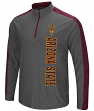 "Arizona State Sun Devils ""Splitter"" 1/4 Zip Pullover Men's Charcoal Wind Shirt"