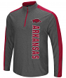 "Arkansas Razorbacks NCAA ""Splitter"" 1/4 Zip Pullover Men's Charcoal Wind Shirt"
