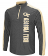Georgia Tech Yellowjackets Splitter 1/4 Zip Pullover Men's Charcoal Wind Shirt