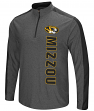 "Missouri Tigers NCAA ""Splitter"" 1/4 Zip Pullover Men's Charcoal Wind Shirt"