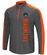 Oklahoma State Cowboys NCAA Splitter 1/4 Zip Pullover Men's Charcoal Wind Shirt