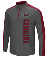 "South Carolina Gamecocks ""Splitter"" 1/4 Zip Pullover Men's Charcoal Wind Shirt"