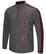 "Texas A&M Aggies NCAA ""Splitter"" 1/4 Zip Pullover Men's Charcoal Wind Shirt"
