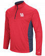 "Houston Cougars NCAA ""Audible"" 1/4 Zip Pullover Men's L/S Wind Shirt"