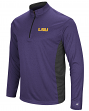 "LSU Tigers NCAA ""Audible"" 1/4 Zip Pullover Men's L/S Wind Shirt"