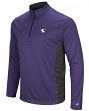 "Northwestern Wildcats NCAA ""Audible"" 1/4 Zip Pullover Men's L/S Wind Shirt"