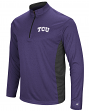 "TCU Horned Frogs NCAA ""Audible"" 1/4 Zip Pullover Men's L/S Wind Shirt"