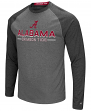 "Alabama Crimson Tide NCAA ""Ultra"" Men's Long Sleeve Charcoal Raglan T-Shirt"