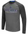 "Air Force Falcons NCAA ""Ultra"" Men's Long Sleeve Charcoal Raglan T-Shirt"