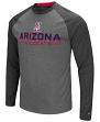 "Arizona Wildcats NCAA ""Ultra"" Men's Long Sleeve Charcoal Raglan T-Shirt"