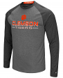 "Clemson Tigers NCAA ""Ultra"" Men's Long Sleeve Charcoal Raglan T-Shirt"