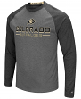 "Colorado Buffaloes NCAA ""Ultra"" Men's Long Sleeve Charcoal Raglan T-Shirt"