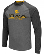 "Iowa Hawkeyes NCAA ""Ultra"" Men's Long Sleeve Charcoal Raglan T-Shirt"