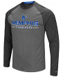 "Memphis Tigers NCAA ""Ultra"" Men's Long Sleeve Charcoal Raglan T-Shirt"
