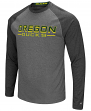 "Oregon Ducks NCAA ""Ultra"" Men's Long Sleeve Charcoal Raglan T-Shirt"
