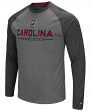 "South Carolina Gamecocks NCAA ""Ultra"" Men's Long Sleeve Charcoal Raglan T-Shirt"