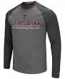 "Texas A&M Aggies NCAA ""Ultra"" Men's Long Sleeve Charcoal Raglan T-Shirt"