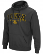 "Iowa Hawkeyes NCAA ""End Zone"" Pullover Hooded Men's Sweatshirt - Charcoal"