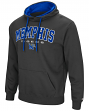 """Memphis Tigers """"End Zone"""" Pullover Hooded Men's Sweatshirt - Charcoal"""