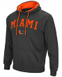 """Miami Hurricanes NCAA """"End Zone"""" Pullover Hooded Men's Sweatshirt - Charcoal"""