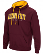 "Arizona State Sun Devils ""End Zone"" Pullover Hooded Men's Sweatshirt - Maroon"