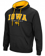 "Iowa Hawkeyes NCAA ""End Zone"" Pullover Hooded Men's Sweatshirt - Black"