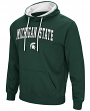 Michigan State Spartans NCAA End Zone Pullover Hooded Men's Sweatshirt - Green