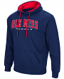 "Mississippi Ole Miss Rebels ""End Zone"" Pullover Hooded Men's Sweatshirt - Navy"