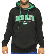 North Dakota Fighting Hawks NCAA End Zone Pullover Hooded Men's Black Sweatshirt