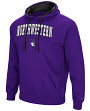 "Northwestern Wildcats NCAA ""End Zone"" Pullover Hooded Men's Sweatshirt - Purple"