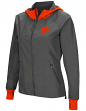 "Clemson Tigers NCAA Women's ""Backside"" Full Zip Hooded Charcoal Jacket"