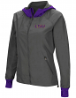 "LSU Tigers NCAA Women's ""Backside"" Full Zip Hooded Charcoal Jacket"