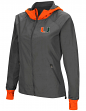"Miami Hurricanes NCAA Women's ""Backside"" Full Zip Hooded Charcoal Jacket"