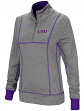 "LSU Tigers Women's NCAA ""10K Runner"" 1/4 Zip Pullover Shirt"