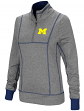 "Michigan Wolverines Women's NCAA ""10K Runner"" 1/4 Zip Pullover Shirt"