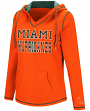 "Miami Hurricanes Women's NCAA ""Spike"" V-neck Pullover Hooded Sweatshirt"