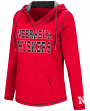 "Nebraska Cornhuskers Women's NCAA ""Spike"" V-neck Pullover Hooded Sweatshirt"