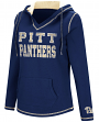 Pittsburgh Panthers Women's NCAA Spike V-neck Pullover Hooded Sweatshirt