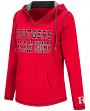 Rutgers Scarlet Knights Women's NCAA Spike V-neck Pullover Hooded Sweatshirt
