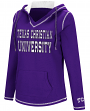 "TCU Horned Frogs Women's NCAA ""Spike"" V-neck Pullover Hooded Sweatshirt"