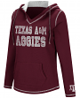 "Texas A&M Aggies Women's NCAA ""Spike"" V-neck Pullover Hooded Sweatshirt"