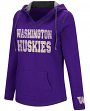 "Washington Huskies Women's NCAA ""Spike"" V-neck Pullover Hooded Sweatshirt"