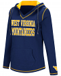 West Virginia Mountaineers Women's NCAA Spike V-neck Pullover Hooded Sweatshirt