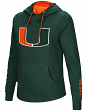 "Miami Hurricanes Women's NCAA ""Inward"" Crossover Neck Hooded Sweatshirt"