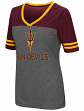 "Arizona State Sun Devils Women's NCAA ""McTwist"" Dual Blend V-neck T-Shirt"